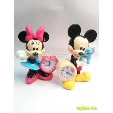 Часы кварцевые настольные Mickey Mouse,  Mini Mouse